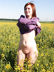 Now heres a girl that takes masturbation pretty seriously, this hot piece of eye candy found herself a meadow where she can comfortably get naked and