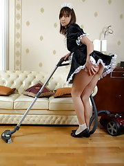 Her 'french maid' outfit drives him crazy