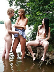 Natural tender teens having sex in the most natural places of Europe